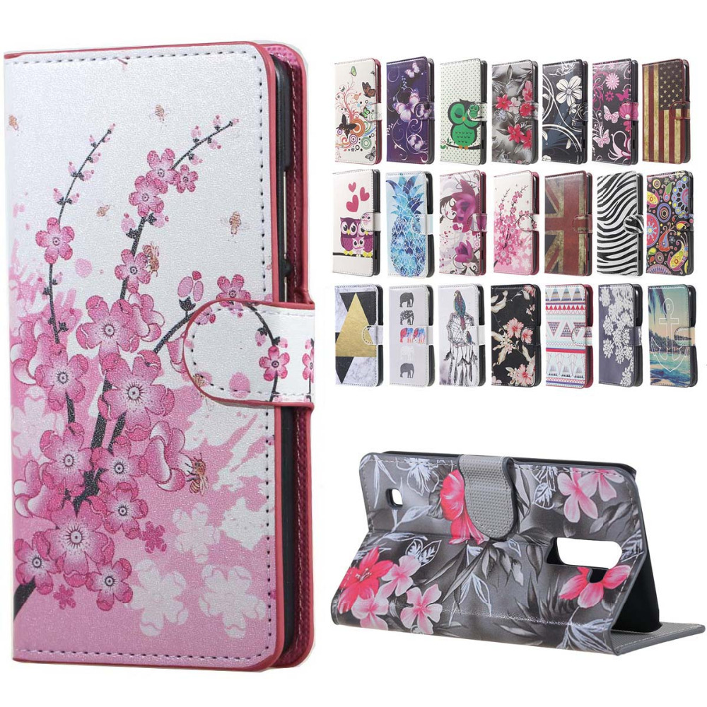 Pink Plum Magnetic Leather Wallet Handbag Book Cover Case sFor Flip LG K10 M2 F670 Coque Mobile Phone Cases bags smarphone case