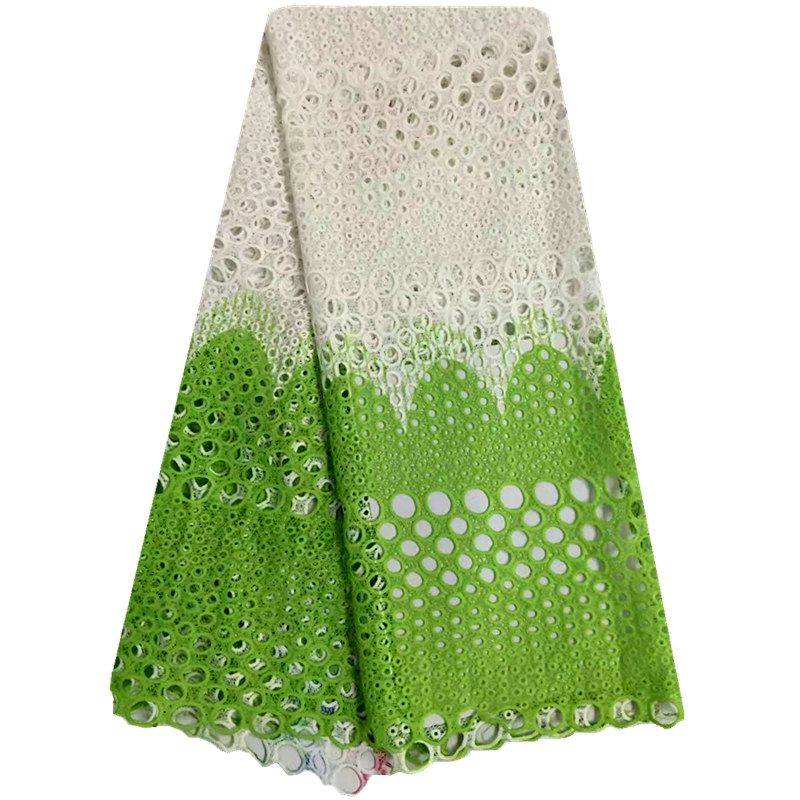 Hot Selling Beautiful African Lace Fabric Newest Design Tulle Lace For Sewing Accessories African Lace Fabric Green