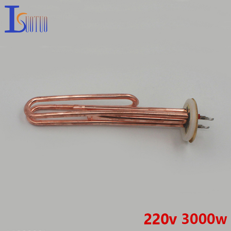 60mm cap 220v 3000w brass electric water heater tube parts heating element boiler heater parts
